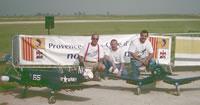 Les 2 Corsairs pilotés par Christian Vernhes et Lionel Fouassier